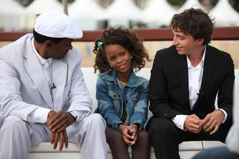 Beasts of The Southern Wild's Quenzhane Wallis, Dwight Henry, Benh Zeitlin at Majestic Beach